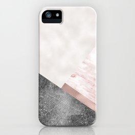 Rose grunge - geo layers II iPhone Case