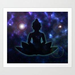 Buddhas' Galaxy Art Print