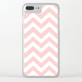 Light red - pink color - Zigzag Chevron Pattern Clear iPhone Case