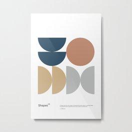 Shapes 03 - Bauhaus / Swiss Design -  Metal Print