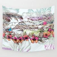 sail Wall Tapestries featuring Sail Away by Vikki Salmela
