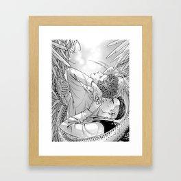 Breathe me through the light Framed Art Print