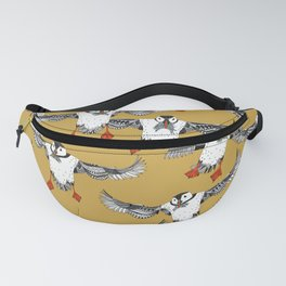 Atlantic Puffins gold Fanny Pack