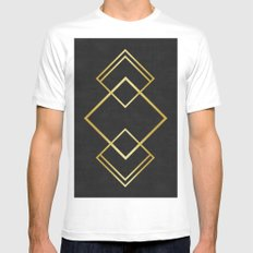 Golden forms VIII Mens Fitted Tee White MEDIUM