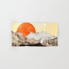 Marbled mountains by sunset Hand & Bath Towel