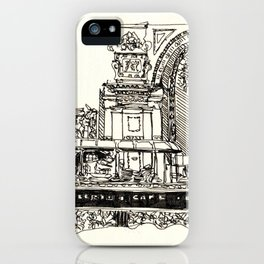 Old school cafe iPhone Case