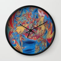 eat Wall Clocks featuring EAT by Robert Nickologianis