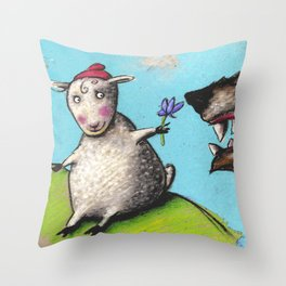 Who's afraid of the Wolf? Throw Pillow