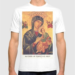 Mother of Perpetual Help by Yuriy Hrechyn Prayer Card T-shirt
