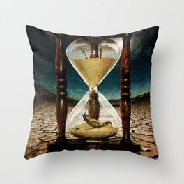 Sands of Time ... Memento Mori Throw Pillow