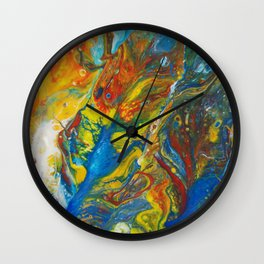 Flying Free in the Heat of the Day Wall Clock
