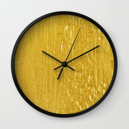 Luxury Solid Gold Paint Texture Wall Clock