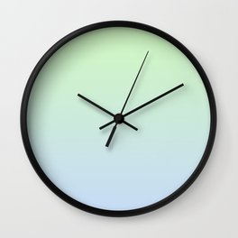 Delicate shades of blue and green. Gradient.  Ombre. Wall Clock