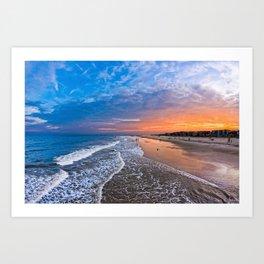 Magical Sunset on Tybee Island Art Print