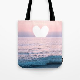 My Heart on the Sea Tote Bag