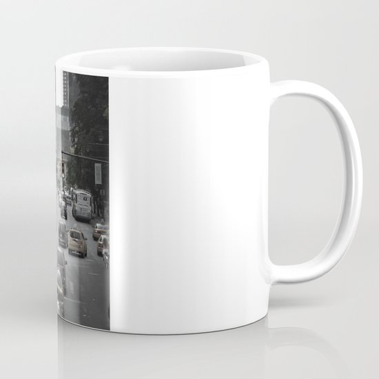 New York Taxi in the air Mug