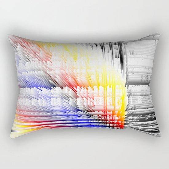 city color fabric Rectangular Pillow
