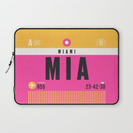 Luggage Tag A - MIA Miami USA Laptop Sleeve