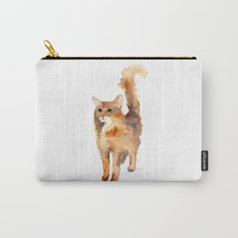 Ginger Fluffy Cat Carry-All Pouch