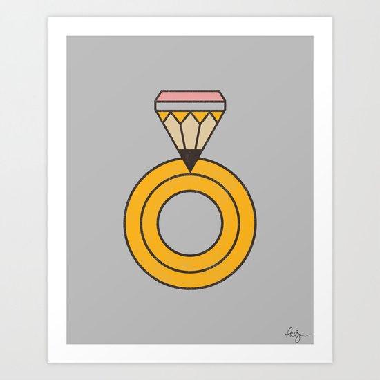 Draw Ring Art Print