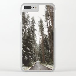 Redwood Forest Adventure II - Nature Photography Clear iPhone Case