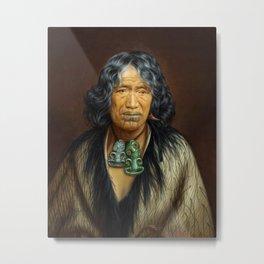 Kuinioroa, daughter of Rangi Kopinga  - Maori Portrait Metal Print