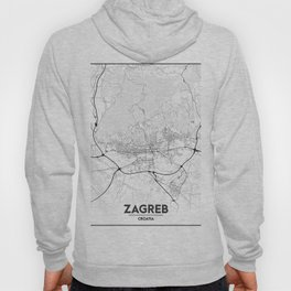 Minimal City Maps - Map of Zagreb Hoody