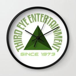 Third eye entertainment green Wall Clock