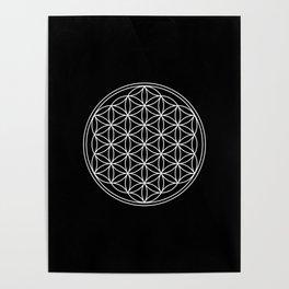 Flower of life on black Poster