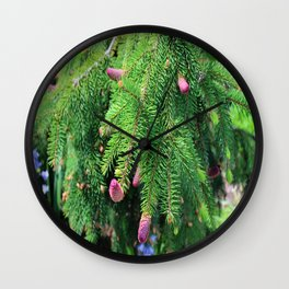 Norway Spruce IV Wall Clock