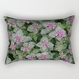 WILD SALVIA MAUVE AND GRAY GREEN Rectangular Pillow