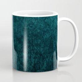 Teal Blue Velvet Texture Coffee Mug