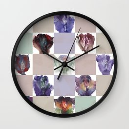 Vagina Portrait Quilt Wall Clock