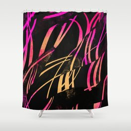 Black Sunrise Shower Curtain