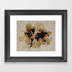 Map Stains Framed Art Print