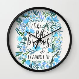 Big Brows – Blue Palette Wall Clock