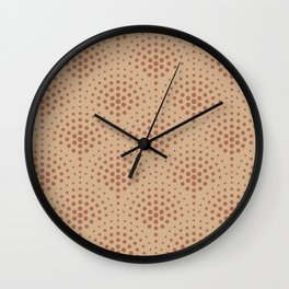 Cavern Clay SW 7701 Polka Dot Scallop Fan Pattern on Ligonier Tan SW 7717 Wall Clock