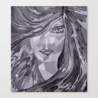 plain Canvas Prints featuring Plain Jane by Sartoris ART