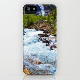 Geraldine Waterfall located in Jasper National Park, Canada iPhone Case