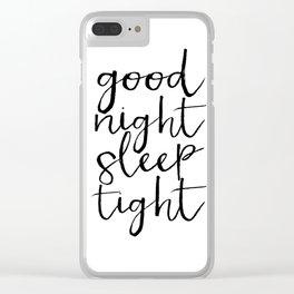 Bedroom Decor Good night Poster Handwriting Print Bedroom Art CHILDREN ROOM DECOR Good Night Clear iPhone Case