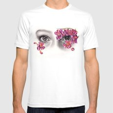 This Night Has Opened My Eyes MEDIUM White Mens Fitted Tee