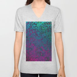 Colorful Corroded Background G296 Unisex V-Neck