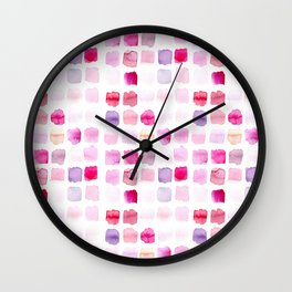 Pink Blush Swatch Wall Clock