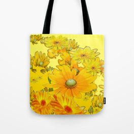 DECORATIVE YELLOW FLORAL GARDEN ART Tote Bag