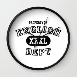 Property of the English Department Wall Clock