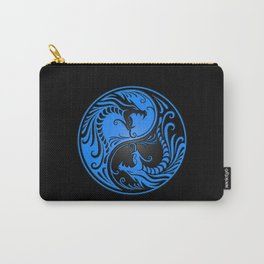 Blue and Black Yin Yang Dragons Carry-All Pouch