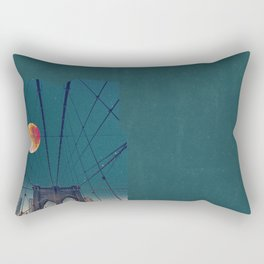 Blood Moon over the Brooklyn Bridge and New York City Skyline Rectangular Pillow