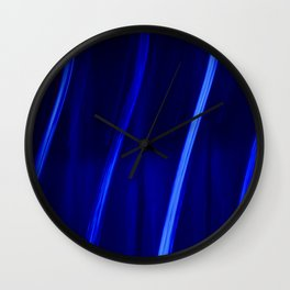Abstract Crystal Blue Persuasion Wall Clock