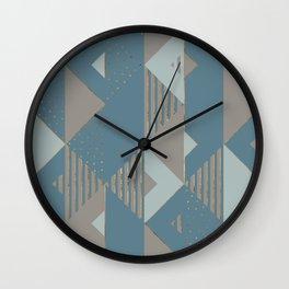 Blueprint Geometric Pattern 2 Wall Clock