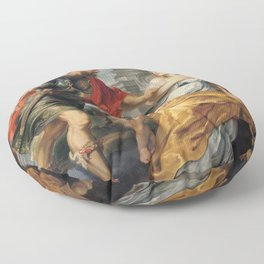 Peter Paul Rubens - Mars and Rhea Silvia Floor Pillow